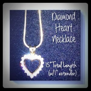 Diamond Heart Necklace NWOT